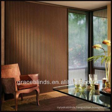 vertical blinds for common sized sliding doors/89mm basswood slats wooden vertical blinds