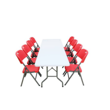 Folding tables and chairs set