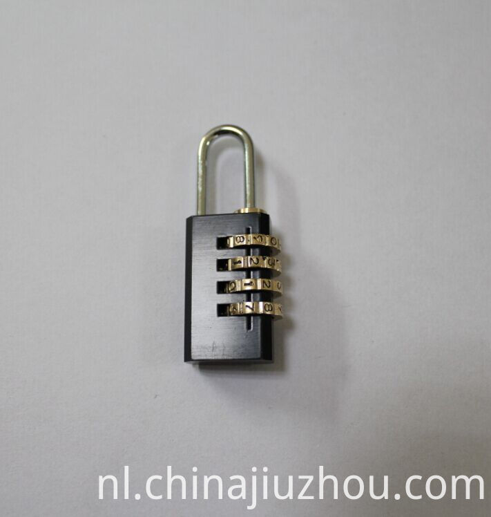 Black-plated Brass Combination Padlock