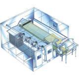 SLD efficient fluidized quick freezing machine