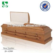 Meilleur prix cercueil d'équipement de crémation des poignées en bois