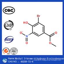 CAS 40258-72-8 China Safe Delivery Methyl 3-Bromo-4-Hydroxy-5-Nitrobenzoate