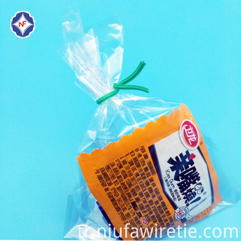 Plastic Single Wire Twist Tie For Bag Bundle