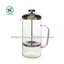 Teapot de vidro com aço inoxidável (8.5 * 13 * 21)