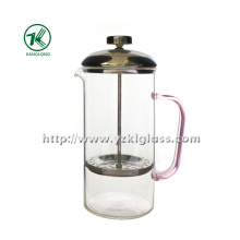 Стеклянный чайник с нержавеющей сталью (8.5 * 13 * 21)
