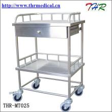 Medizinischer Edelstahl-Behandlungswagen (THR-MT241)