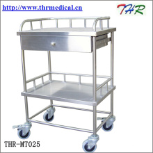 Медицинская тележка для обработки нержавеющей стали (THR-MT241)