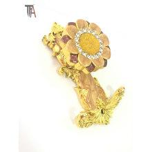 Nouvelle forme de couleur dorée pour Crochet de rideau