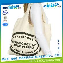 La fourniture portable écologique fournit un sac de coton magnifique avec cordon