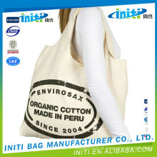 Eco-friendly fonte de alimentação portátil saco de algodão bonito com cordão