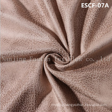 Print and Golden-Plating  Suede Fabric Escf-07A