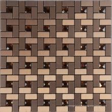 Mosaico de alumínio moda metal 300 * 300mm