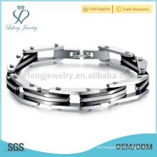 Últimas pulseras de plata amistad, pulsera de acero inoxidable al por mayor