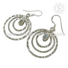 Women's Fashion Rainbow Moonstone Jewelry Earring Manufacture 925 Silver Jewelry Handmade Earring