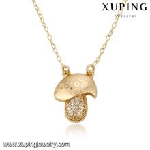 43084 Xuping joyería de moda collar de diseño especial de oro con circonita sintética