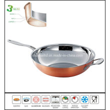 New Products TV Copper Wok Pan