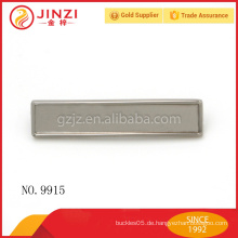 Kundenspezifisches Metalllogo für Handtaschenentwurfs-Firmenzeichenplatte