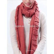 Cachecol acrílico novo da forma scarf feito malha