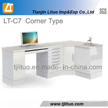 Good Quality Metal Steel Corner Type Dental Cabinet