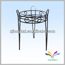 Hot-sale preto forjado de ferro interior planta vaso de flores prateleira