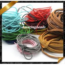 Cuerda de cuero, alambre caliente de la joyería Cuerda de cuero verdadera, joyería de cuero verdadera (RF049)