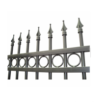 China steel picket fence hot selling steel picket fence