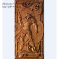 Home decoration  handmade wall hanging carved  wood wall paneling lady girl wood carving paneling