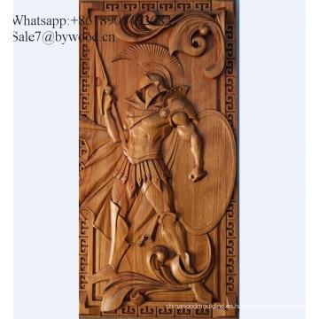 Colgante de pared hecho a mano tradicional Panel de madera tallado Panel de madera grabado antiguo