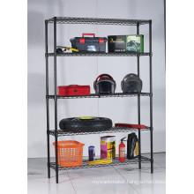 Powder Coating Metal Garage Wire Storage Shelving Rack (CJ12035180A5E)