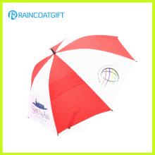 Anunciando o guarda-chuva do golfe da dupla camada da fibra de vidro de 8′ch 8k