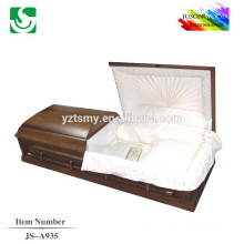 JS-A935 western style good quality pink interior caskets