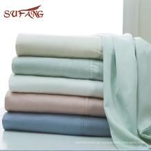 Amazon venda quente plissado projeto tencel capa de edredão conjunto de cama em várias cores