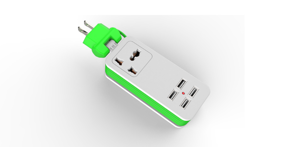 4 USB charging travel socket