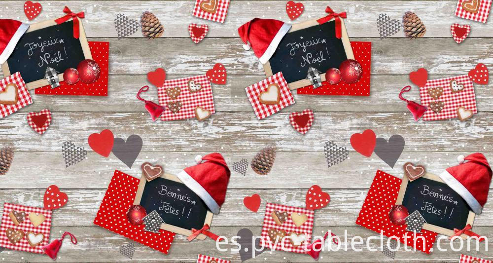PVC Tablecloth Christmas Design