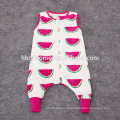 INS hot sell sleeveless watermelon ,rabbit printed 100% cotton baby girl rompers 2016