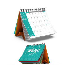 2017 New Design Customized Desk Calendar Printing