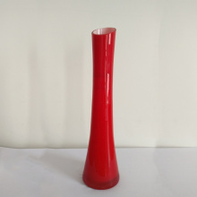 Trompette Shape Red Vase Home Vente en gros