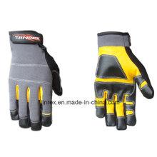 Gute Qualität Leder Mechanik Arbeitswerkzeug Safe Hand Handschuh