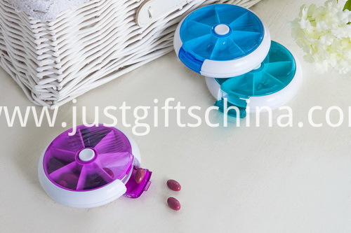 Promotional Plastic 7-Day Rotate Pill Box (2)