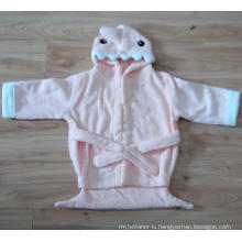 (BC-KB1007) Hot-Sell 100% Cotton Terry Kids Cute Bathrobe