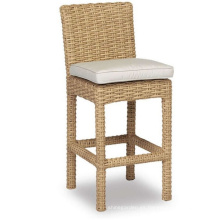 Jardín de mimbre de la resina de patio al aire libre de muebles de Bar taburete silla