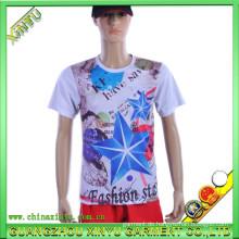 Digitaldruck-Baumwollgewebe-Bambussport-T-Shirt Großverkauf (XY-T14)