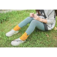 Прекрасные зимние носки для девочек с хлопчатобумажными носками с красивой яркой тканью