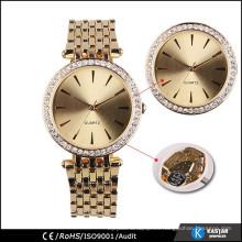 Reloj de oro de la manera del diamante para las mujeres