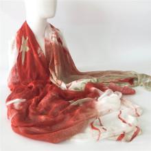 Модальный печатный шарф