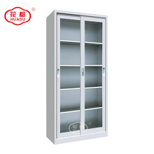 Hot sale steel office sliding glass door storage filing cabinet