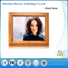 Frame digital da foto do frame de madeira de 15 polegadas