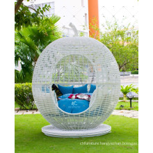 Strange Design Rattan Wicker Synthetic Rattan Apple Sunbed Outdoor Garden Furniture