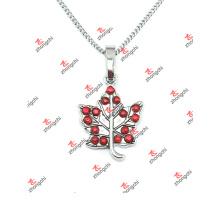 Whoesale Alloy Forme d'érable Pendentifs bijoux Collier pendentif (SLK60128)