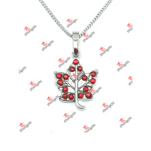 Whoesale Alloy Maple Leaf Charms Jewelry Pendant Necklace (SLK60128)